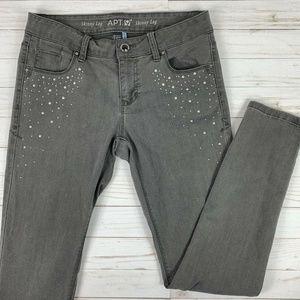 🔥5/$25 Apt 9 Womens 4 Skinny Jeans Embellished